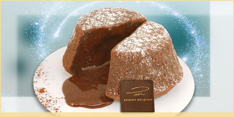 Cuore di cioccolato caldo